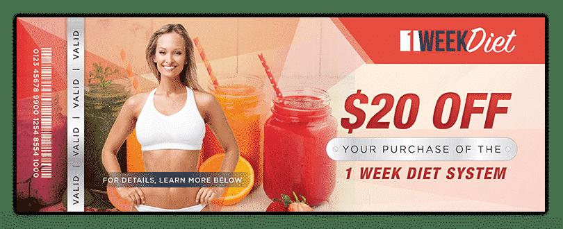 1 week diet discount coupon