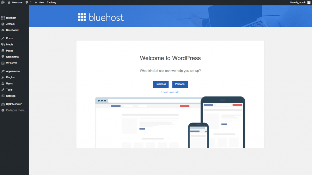 final steps bluehost