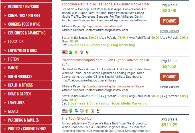 Finding the right niche clickbank