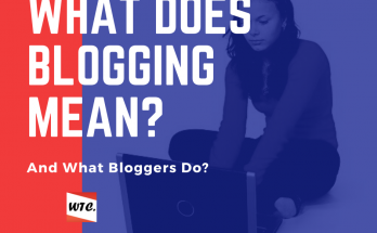 What does blogging mean