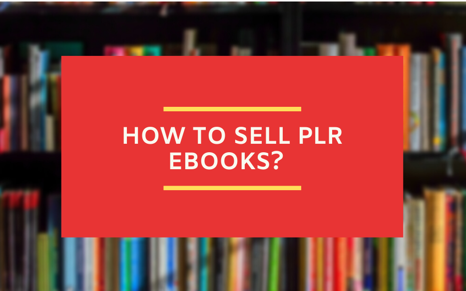 selling plr ebooks