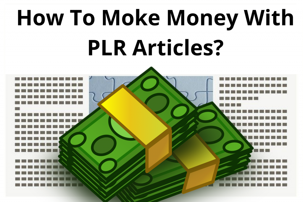 how to make money from plr articles