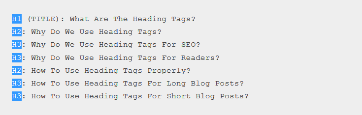 heading tags seo content