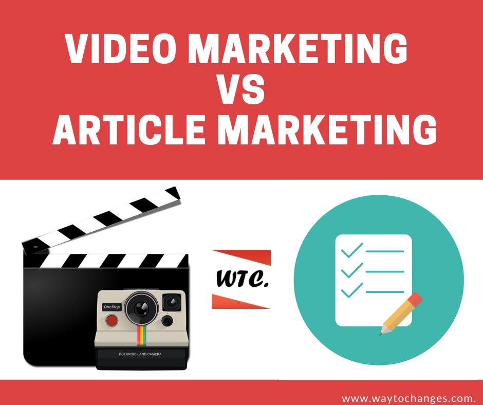 Video Marketing vs Article Marketing
