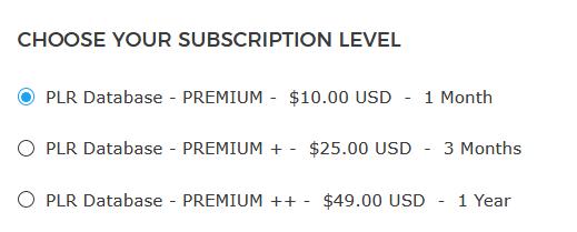 plrdatabase pricing