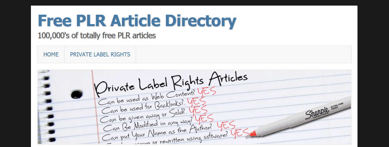 free article dictionary