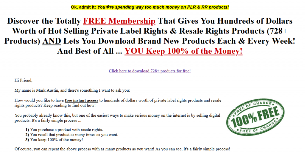 resell rights weekly free plr