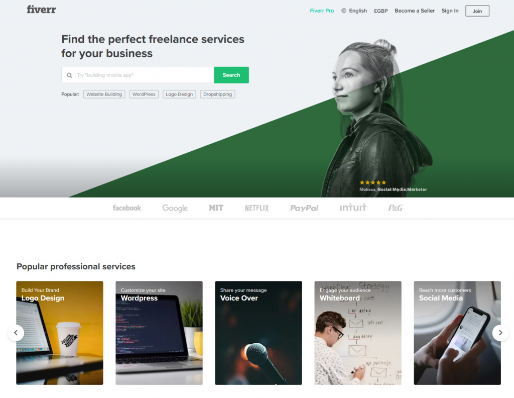 what services you can find on Fiverr