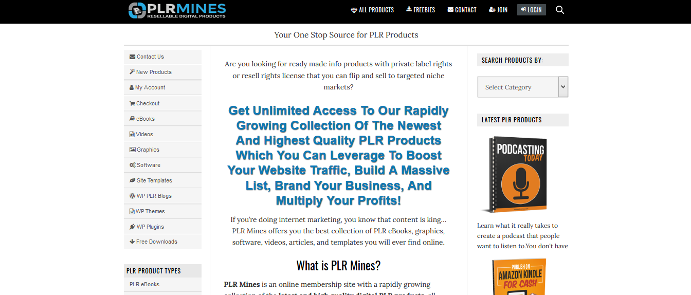 plr mines products