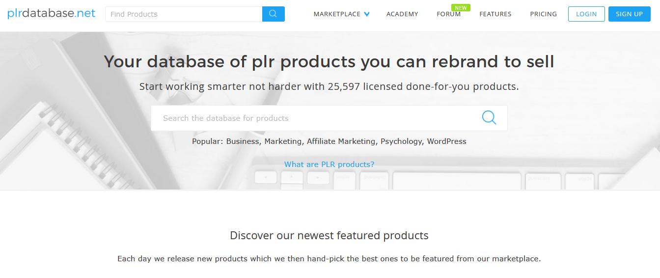 PLR database