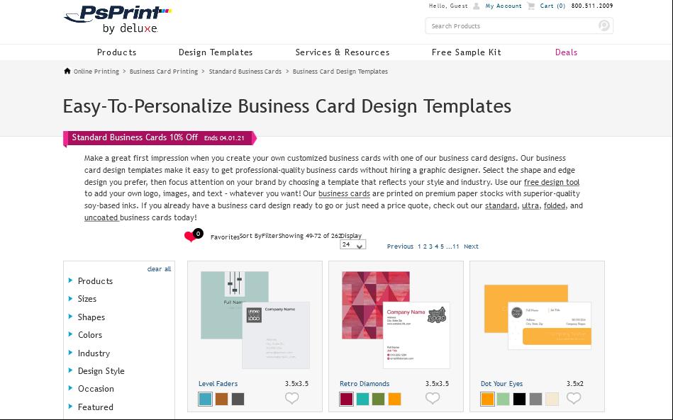 ps print design templates