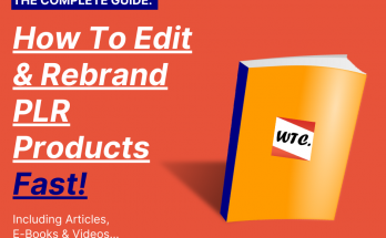 How to rebrand plr products