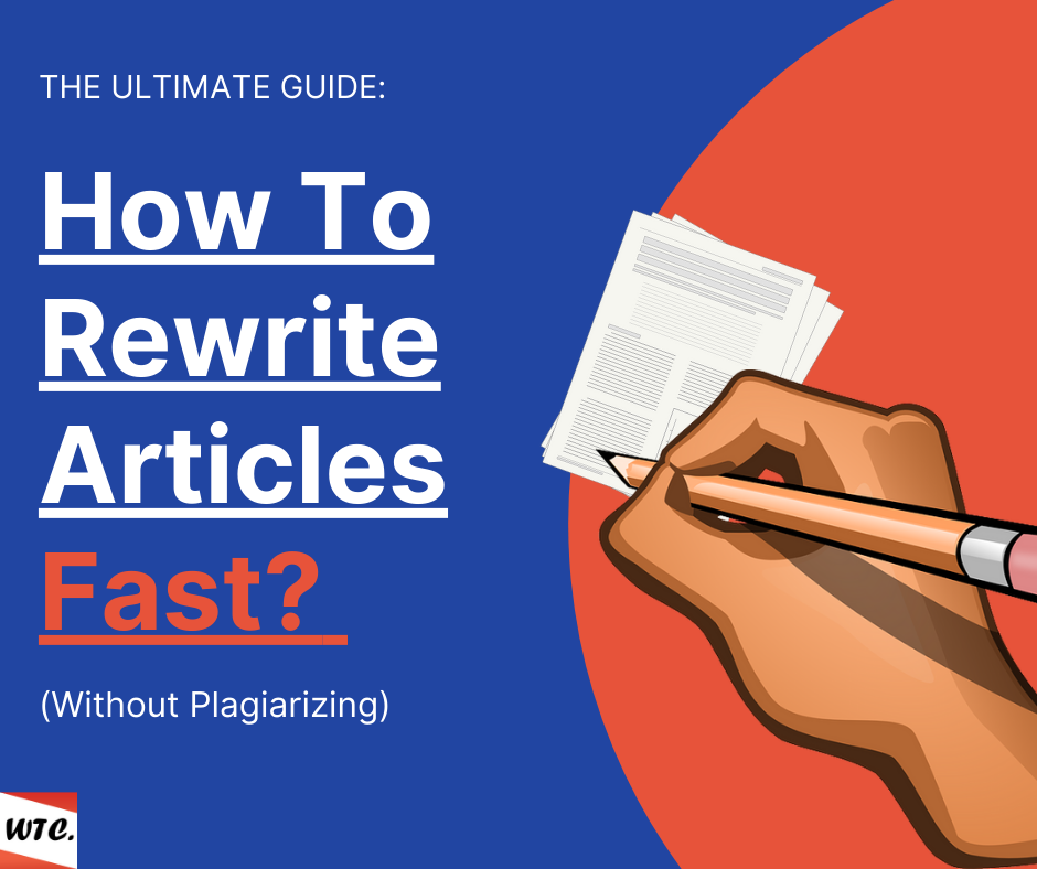 how to rewrite articles