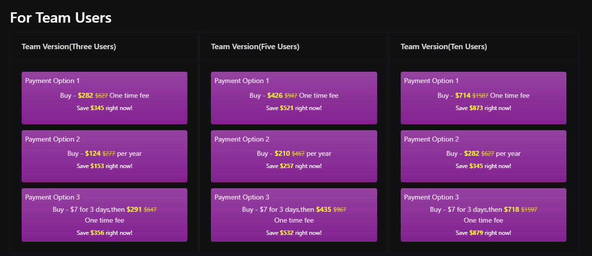 spinner chief 6 team pricing